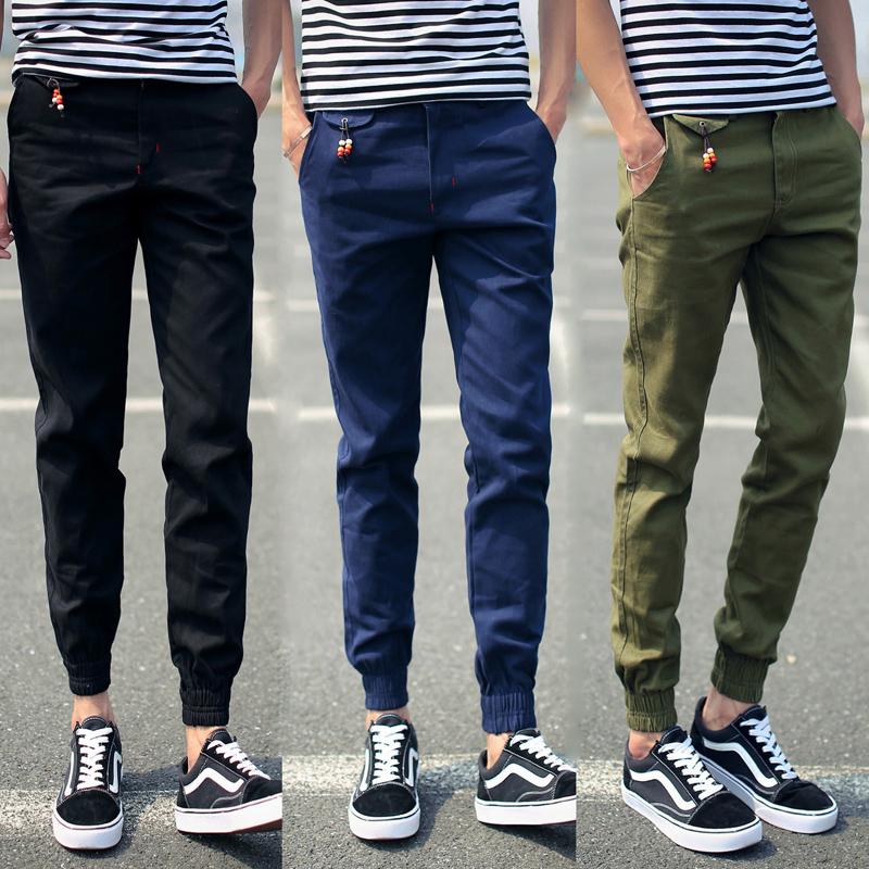 2018 new spring men s cotton casual pants men trousers jeans