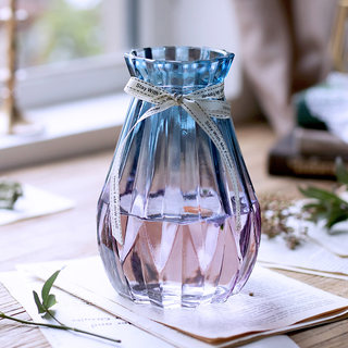European creative glass vase hydroponic green radish plants dry flowers inserted vase ornaments decorate the living room restaurant