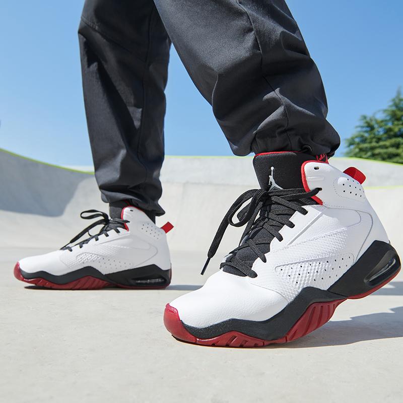 Jordan官方LIFT OFF男子运动鞋气垫复古小白鞋情侣白色AR4430