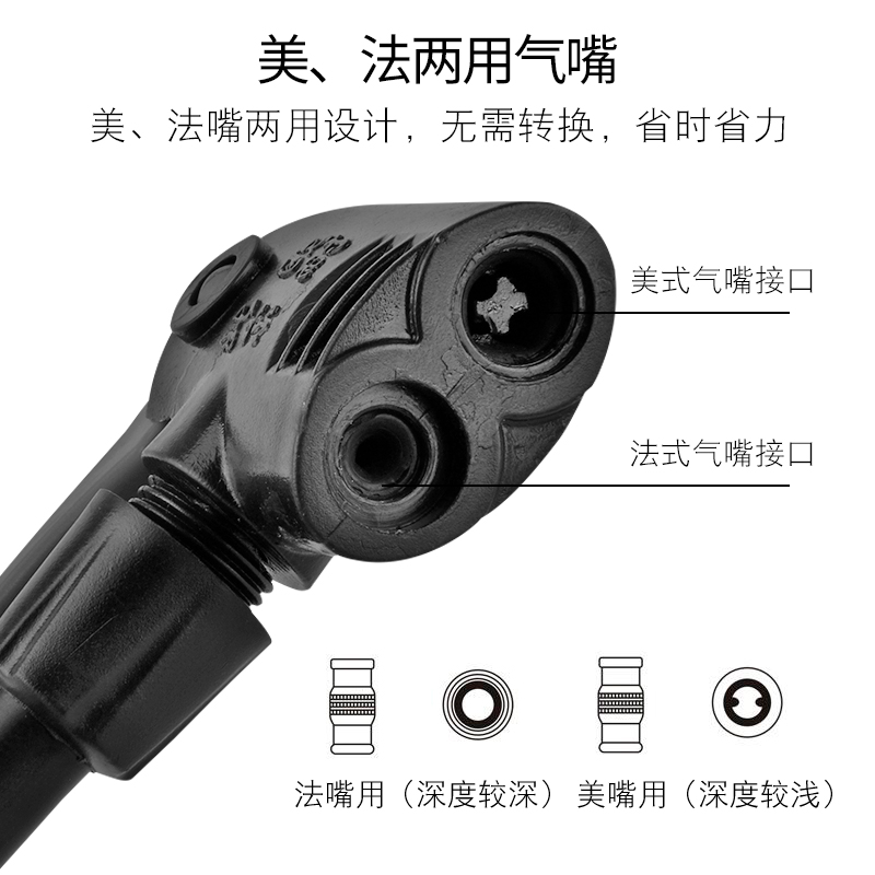 Locke Brothers bicycle pump high-pressure household electric vehicle charging basketball mountain bike motorcycle accessories