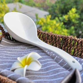 汤勺陶瓷家用大汤勺木勺子长柄火锅勺
