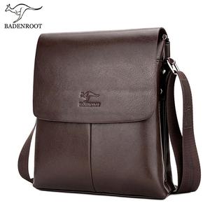 袋鼠男包單肩包男士斜挎包男休閑包豎款男式翻蓋背包商務公文皮包