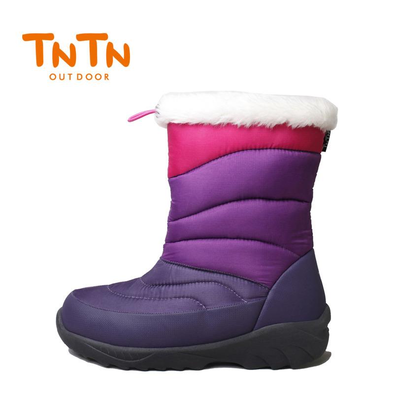 TNTN ngoài trời mùa đông xuống trong ống cao mới Shirley nhung ấm không thấm nước không trượt tuyết dày thị trấn của phụ nữ giày tuyết bông khởi động