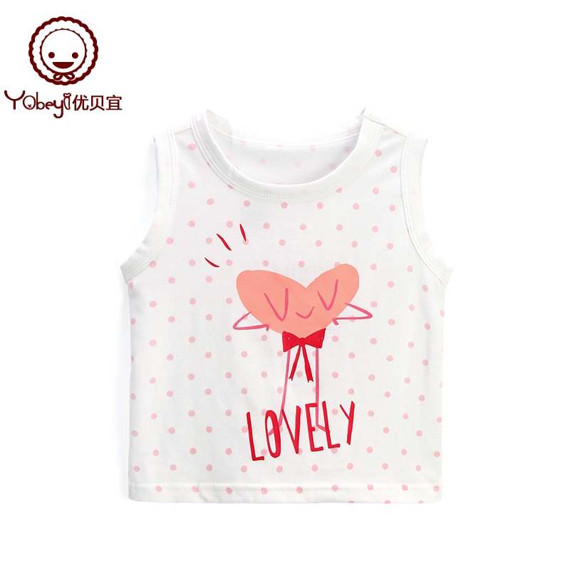 Excellent be Yi girls summer vest casual models children Western summer clothing thin clothes baby sleeveless shirt tide
