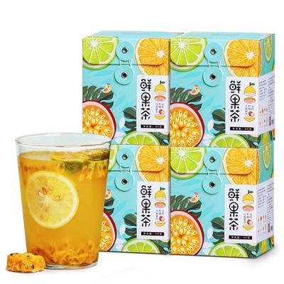 4盒网红纯水果茶 果干泡水金桔柠檬蜂蜜百香果花茶组合茶包花果茶