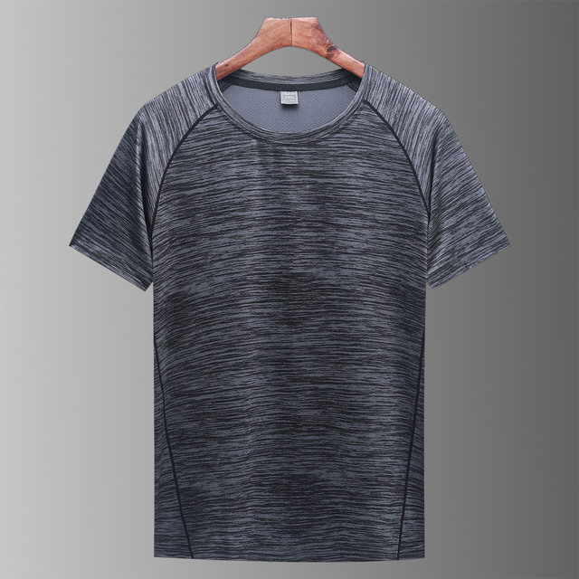 Outdoor quick-drying t-shirt men's summer sports short-sleeved women's ice silk running sweat-absorbent breathable quick-drying clothing camouflage fitness top