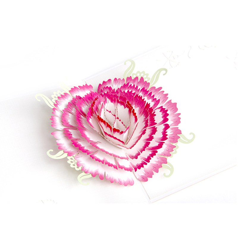 Thanksgiving Greeting Card Carnations Blessing 3d Three Dimensional Small Korea Creative Hand To Send