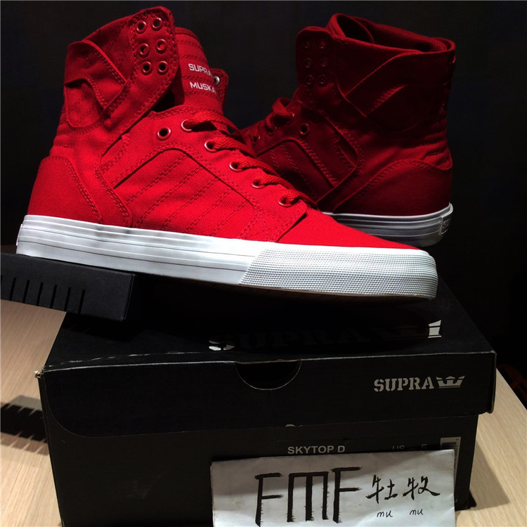 huge selection of 93373 6cc30 Mu Mu Supra Skytop d festive red canvas men and women high to help Limited  board shoes tide small long