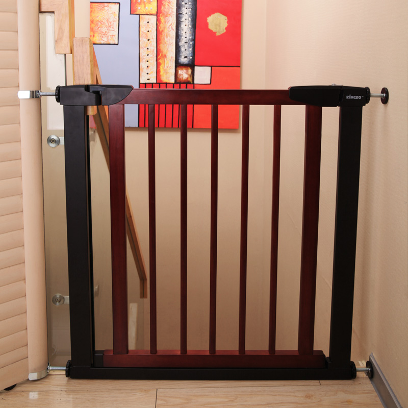 Free punch imported solid wood fence child safety gate fence door pet corridor fence gate isolation & USD 89.12] Free punch imported solid wood fence child safety gate ...
