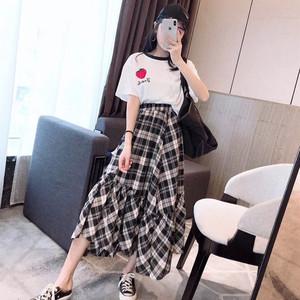 很仙的法式流行小清新chic格子套装裙气质甜美度假洋气裙子两件套