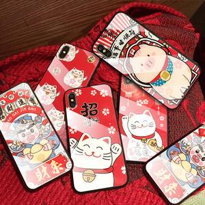 苹果手机全包卡通软壳新年喜庆手机
