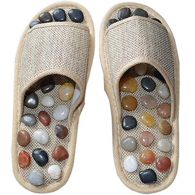 天然鹅卵石按摩拖鞋