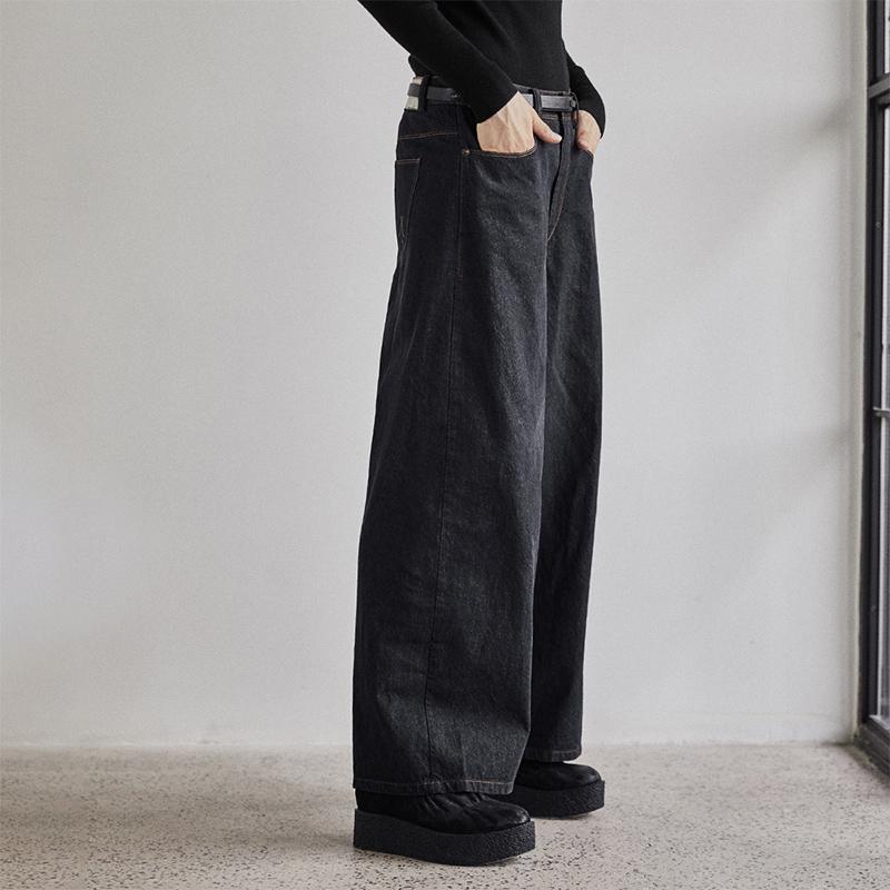 Quần Nhật Bản nữ quần dài mùa thu 2020 làn sóng mới của quần ống rộng nữ thẳng quần ống rộng - Quần jean