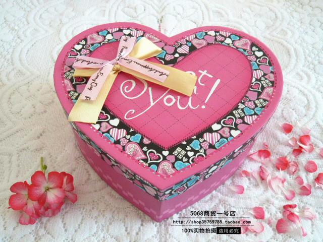 心形礼品盒爱心形礼盒生日礼物包装盒子情人节千纸鹤星星礼盒批发图片