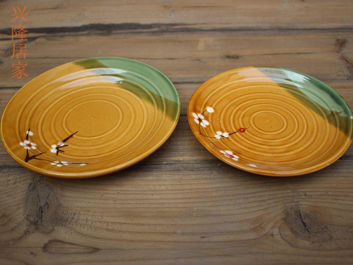 Тарелка Ручной загрузки глиняную тарелку из глины дымящаяся тарелка керамический диск крупнозернистый диск глиняный диск ферма тарелка глиняная керамическая чаша вареный рис плита