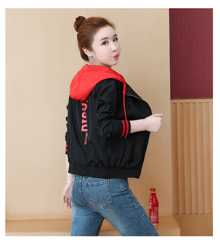 Casual hooded short jacket lady a hundred with spring and autumn 2020 new zip jacket clothes small 61 Online shopping Bangladesh
