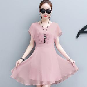 气质雪纺连衣裙子女士夏装新款韩版时尚修身显瘦中长款无袖潮