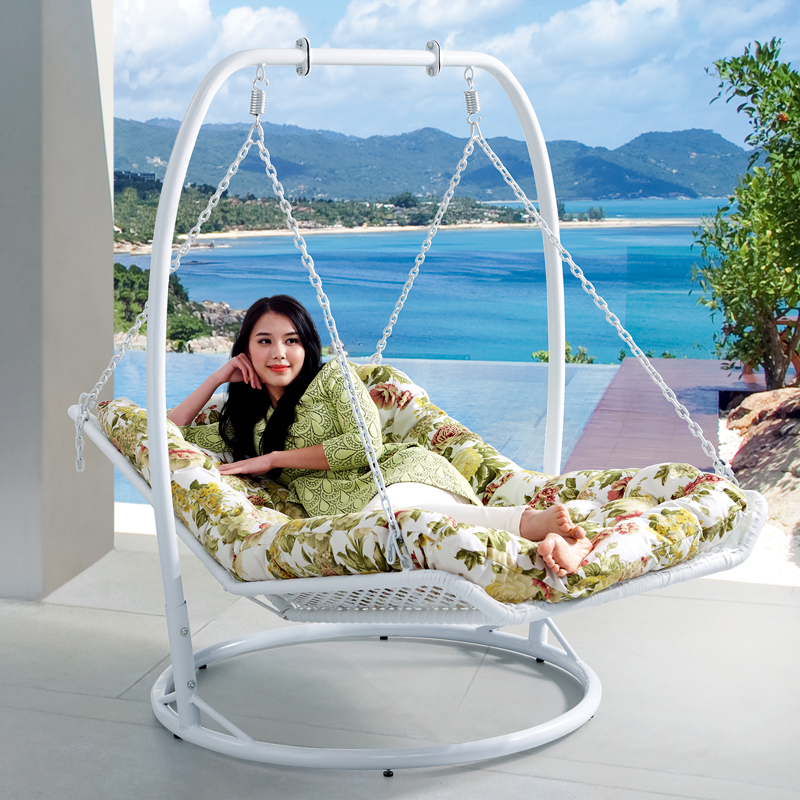 Rocking Chair Double Hammock Chair Basket Rocking Chair Wicker Chair  Outdoor Swing Chair Balcony Adult Rattan ...