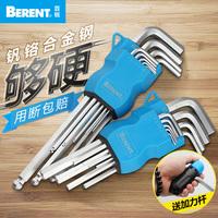 Шестигранный ключ Бай-Руи перчатки Шестигранная отвертка комплект Внутренний шестигранный ключ панель рука