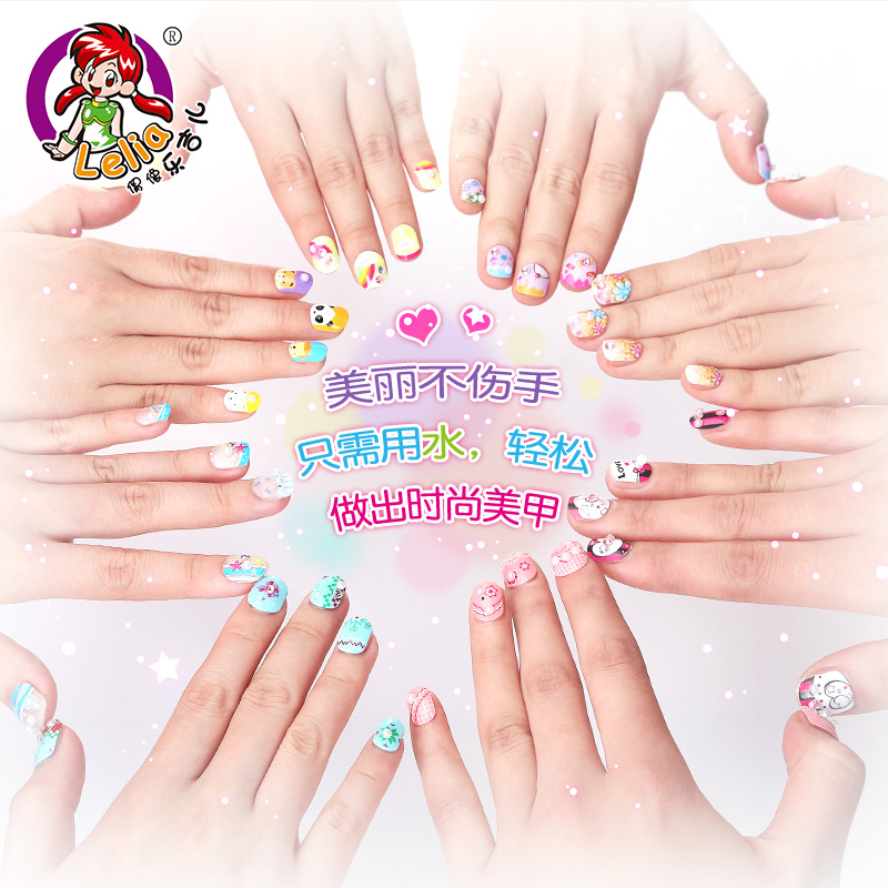 USD 24.38] Children\'s nail stickers child manicure stickers green ...