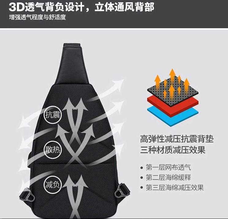 Mới cao cấp nhập khẩu vật liệu kinh doanh tàng hình hệ thống chống trộm túi ngực túi đeo vai túi chìa khóa nam và nữ túi đeo vai T - Trường hợp chính
