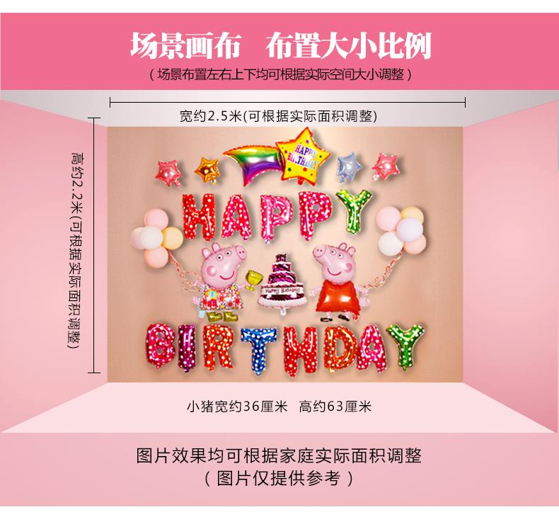 儿童生日快乐气球场景布置宝宝生日百天周岁趴体派对背景墙装饰品商品详情图