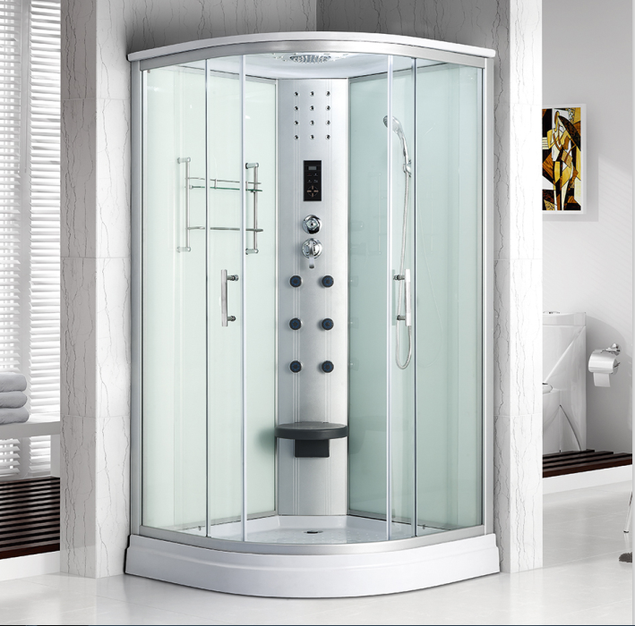 USD 141.16] Overall shower room overall bathroom bath room tempered ...