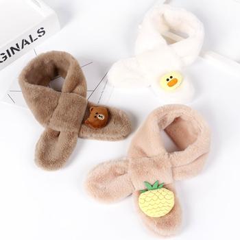 Ребенок шарф осенью и зимой теплый ребенок плюш нагрудник корейский девочки мальчиков младенец мягкий и приятный ошейники волна, цена 191 руб