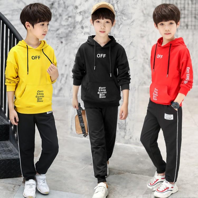 男童套装2018秋装新款时尚春秋运动休闲两件套中大童儿童运动套装