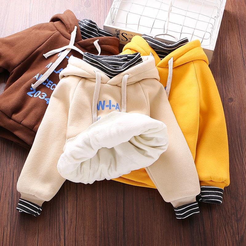 童装卫衣男童春冬款中厚连帽韩版卫衣运动外套帅气打底12345678岁