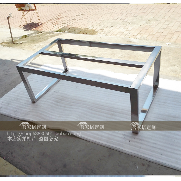 304 Stainless Steel Table Legs Table Coffee Table Shelf Short Legs Marble  Support Frame Custom Made