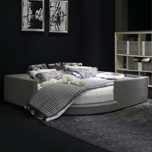 Remarkable Nordic Leisure Modern Fabric Round Bed Foreign Inner Download Free Architecture Designs Ogrambritishbridgeorg