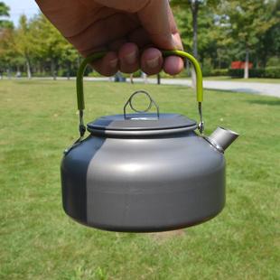 На открытом воздухе кемпинг восхождение вешать рыба портативный кофе горшок чайник 0.8L/1.2L дикий приготовление еды пикник сжигать чайник приготовление еды инструмент