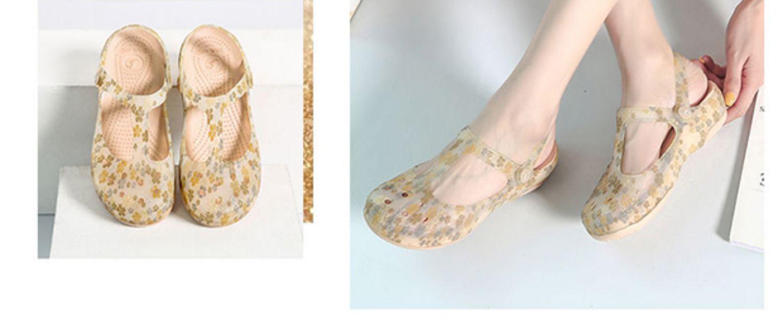 洞洞鞋女防滑新款玛丽珍果冻凉鞋平底夏季沙滩鞋厚底包头拖鞋详细照片