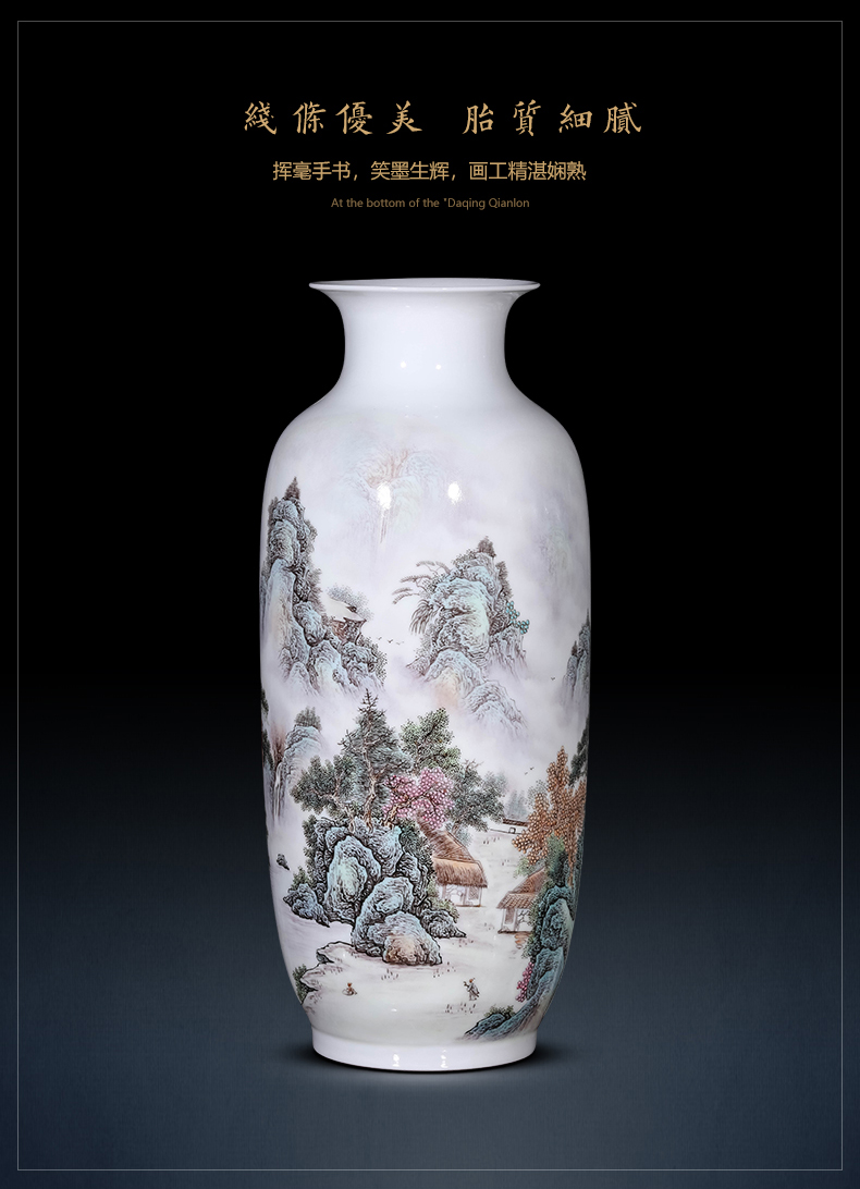 Jingdezhen ceramic plug-in sitting room of Chinese style home decoration vase hand - made porcelain of the sitting room porch TV ark, furnishing articles