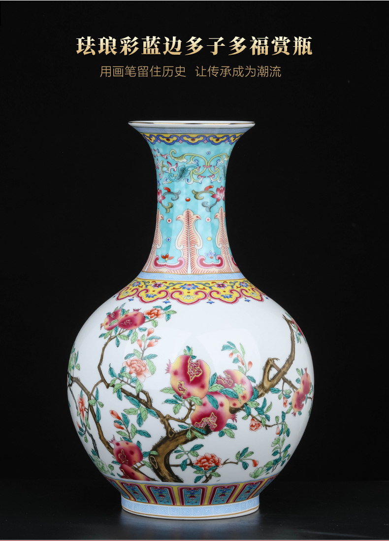 Jingdezhen ceramics flower arranging furnishing articles of Chinese style household vase in the sitting room porch TV ark, simulation flower decoration