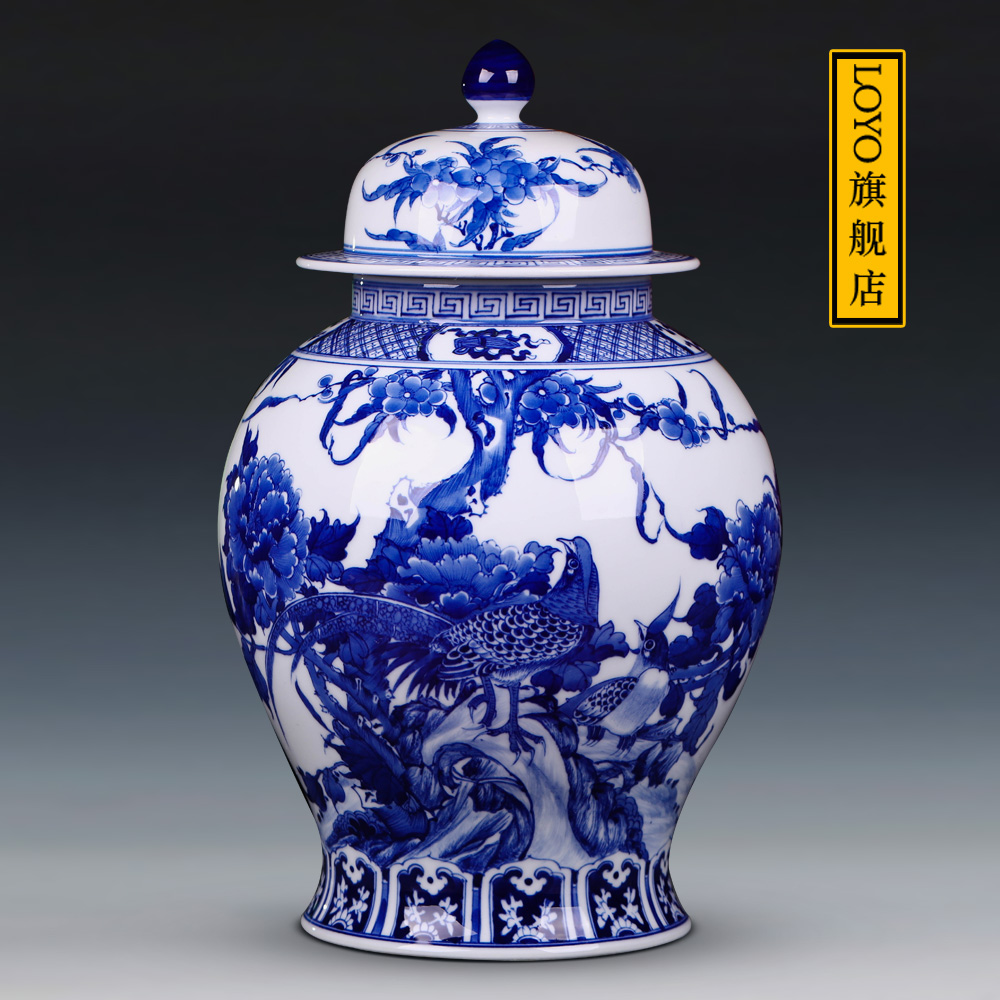 Usd 40164 jingdezhen ceramic vase antique blue and white porcelain jingdezhen ceramic vase antique blue and white porcelain flowers and birds general pot storage pot home craft ornament ornaments mightylinksfo