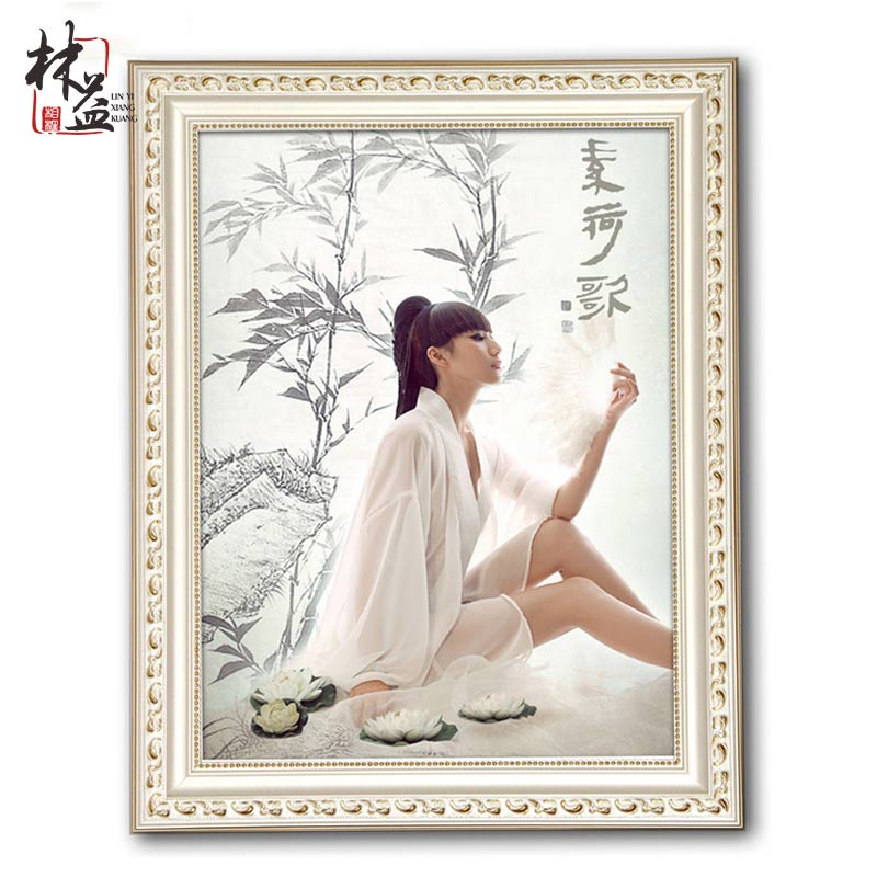 Solid wood photo frame hanging wall European 7 12 16 20 24 36 inch ...