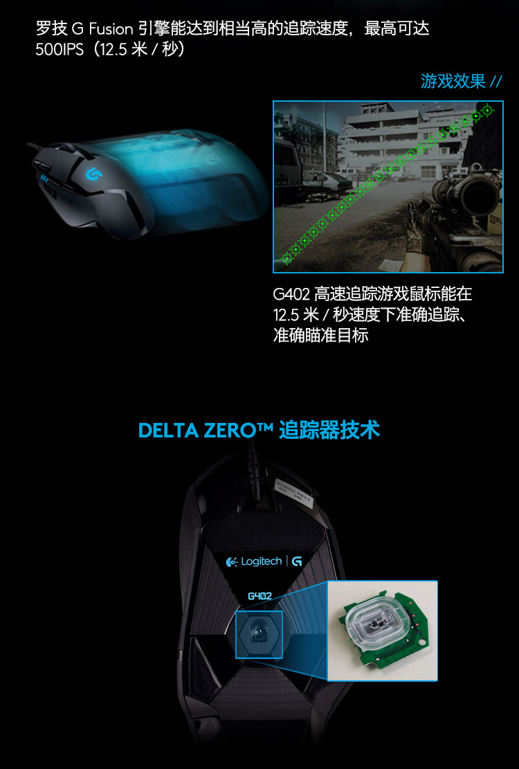 Logitech g402 wired mouse game esports dedicated Internet cafe cf eat  chicken lol machinery 502