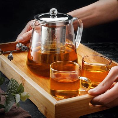 【送4个杯子】耐高温加厚玻璃泡茶壶
