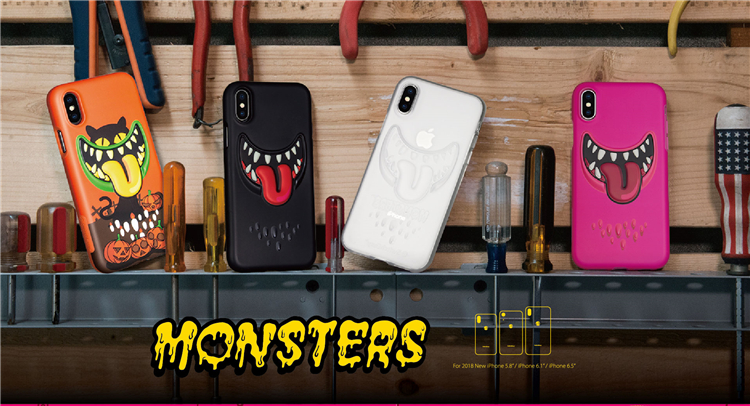 SwitchEasy Monsters 3D Stereo Effect Anti-Scratch TPU Case Cover for Apple iPhone