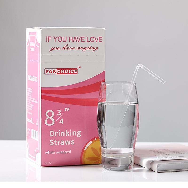 【独立包装】一次性塑料透明吸管*100支