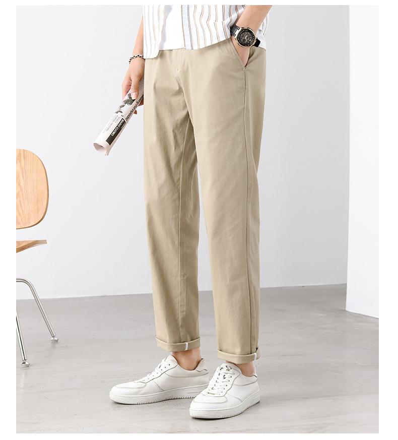 鸭鸭 男士 夏季薄款 棉弹休闲裤 图9