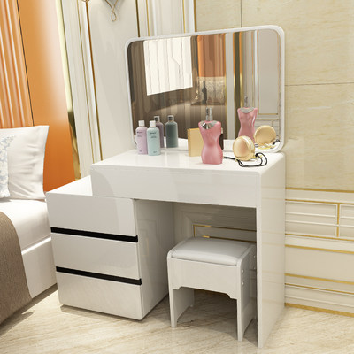 The dressing table bedroom small family mini simple modern makeup table  multi-functional dressing table retractable dressing table retractable ...