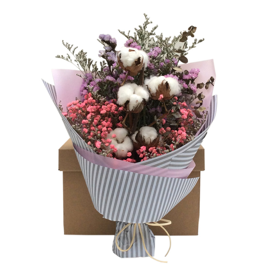 USD 55.20] Cotton bouquets dried flowers bouquets literary bouquets ...