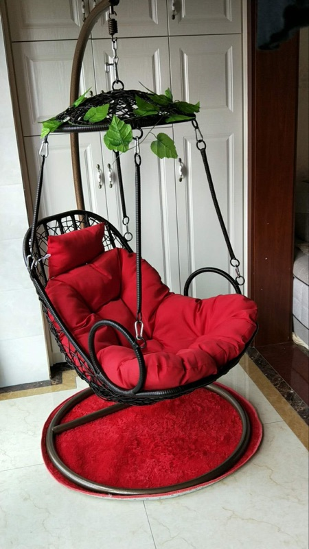 Rocking Chair Hanging Basket Rattan Chair Indoor Double Hanging Chair  Single Bird Nest Balcony Chair Swing Hammock Furniture Imitation Tanning  Lounge Chair