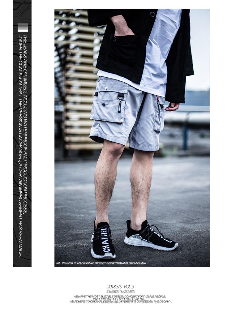 现货休閒宽鬆夏季五分裤立体多口袋工装短裤潮详细照片