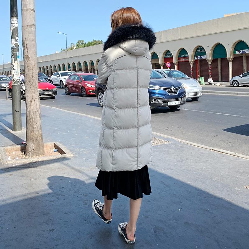 羽绒棉袄外套女冬中长款过膝棉衣2019年新款韩版宽松棉服反季特卖