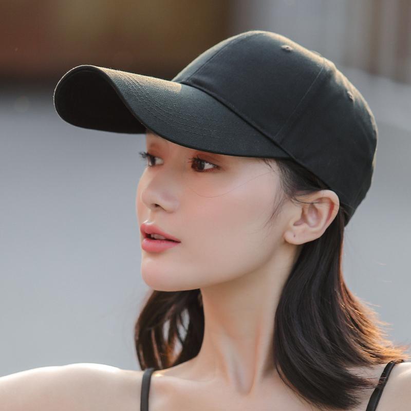 加长帽檐鸭舌帽女帽子男潮牌春夏季太阳帽防晒黑色棒球帽遮阳韩版