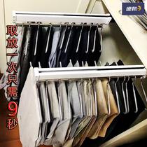 Pants Rack Pull Telescopic wardrobe top push-pull pants pumping multifunctional hanger rod